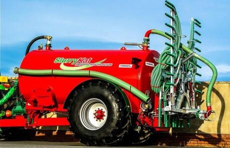 Gjødselvogn 11000l med Duo 7.5m stripespreder