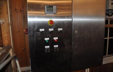 Gjødselseparator kontrollpanel