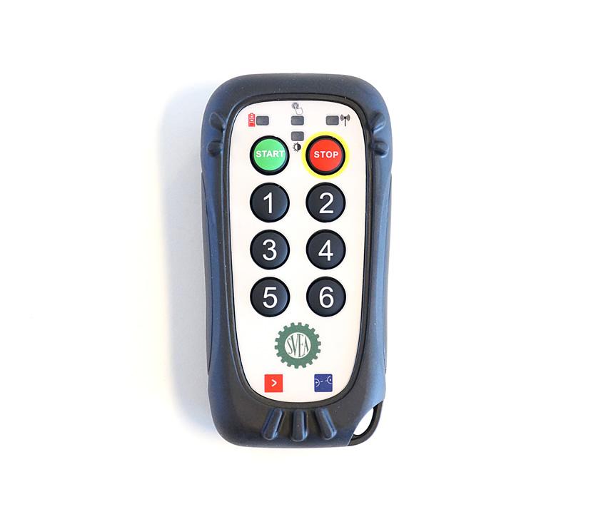 Fjernkontrollen tillater enkel fjernkontroll av blant annet gjødsel, pumper, skruer og belysning