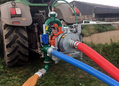 DODA pumpe med headland sikkerhetssystem SlurryKat bakfra
