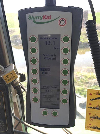 DODA headland sikkerhetssystem display SlurryKat