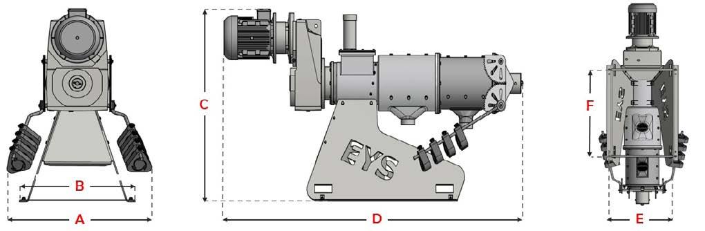 Separator E.Y.S dimensjoner