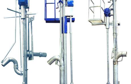 Alle tre stangpumper pumper Sveaverken