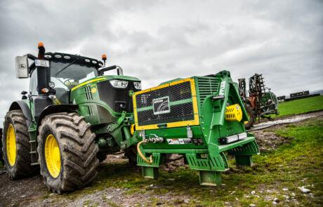 Applied Kompressor front på traktor