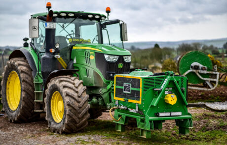 Front montert Kompressor på traktor